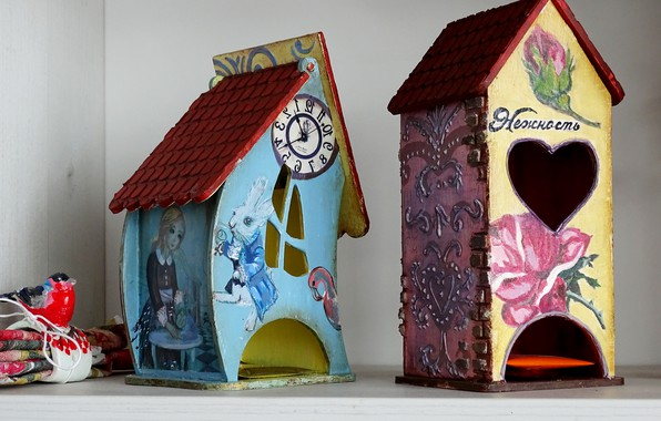 Picture figure, house, Alice in Wonderland, creativity