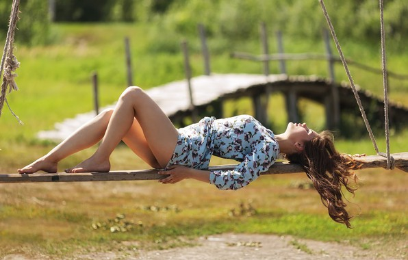Picture summer, girl, dress, Sunlight, Kazakhstan, Murat Kuzhakhmetov