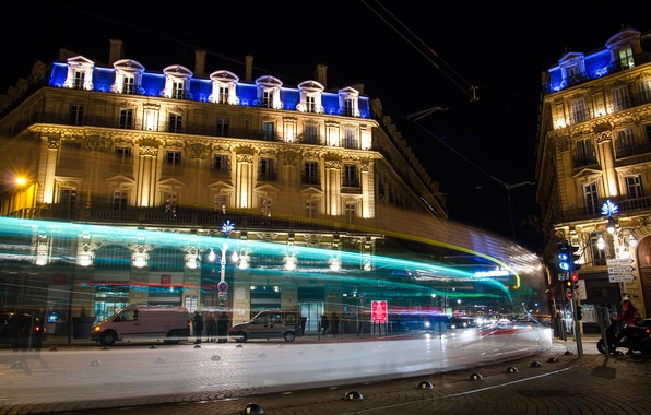 Picture night, lights, France, home, area, Marseille