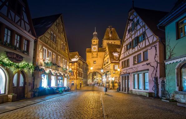 Picture street, building, tower, home, gate, Germany, Bayern, bridge, Germany, Bavaria, Rothenburg-Ob-der-Tauber, Markusturm tower, Röder alley, …
