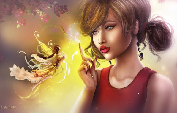 Picture girl, fairy, hairstyle