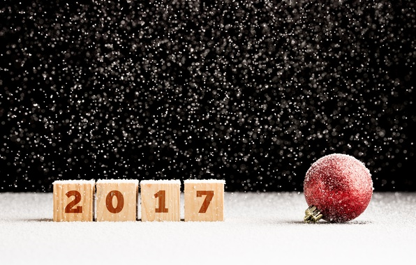 Picture snow, ball, ball, New Year, new year, happy, snow, bokeh, ball, 2017