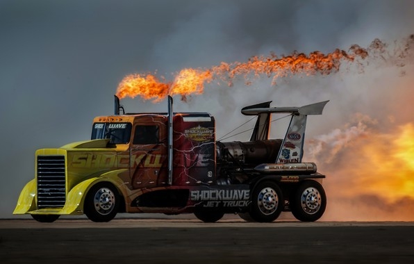 Picture fire, speed, Truck