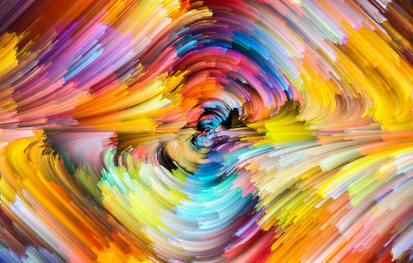 Picture colors, colorful, abstract, rainbow, splash, painting