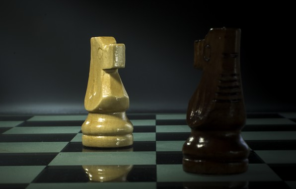 Picture horse, chess, figure