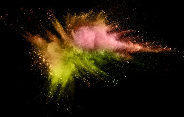 Picture squirt, background, paint, black, colors, colorful, abstract, splash