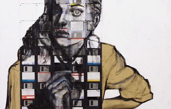Picture girl, Nick Gentry, Surrealism, VERBATIM