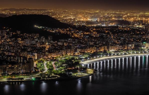 Picture night, lights, panorama, Brazil, Rio de Janeiro, Rio de Janeiro