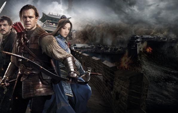Picture Matt Damon, Matt Damon, The Great Wall, Great wall, What kind of enemy threatening the …