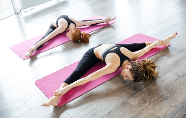 Wallpaper floor pose female workout yoga images for for Floor yoga poses