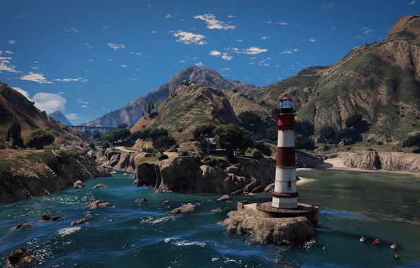 Picture Grand Theft Auto V, GTA V, El Gordo Lighthouse