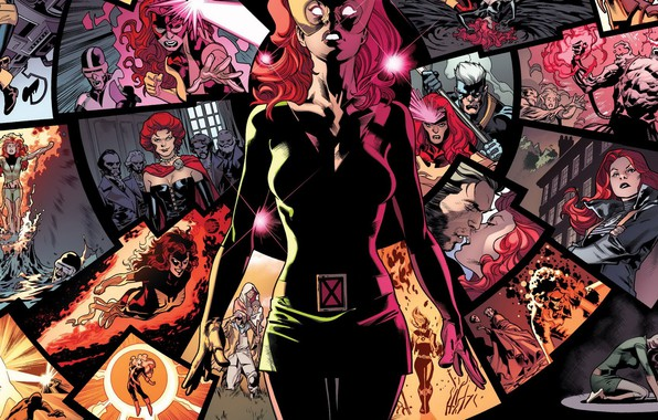 Photo wallpaper red, memories, telepathy, comic, Marvel Comics, X-men, Phoenix, Jean Grey, Jean Grey