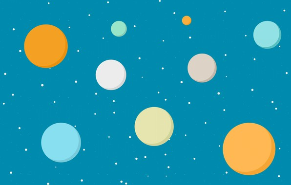 Picture the sky, stars, paint, planet, round, texture, point