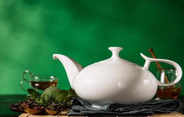 Picture lemon, tea, kettle, welding