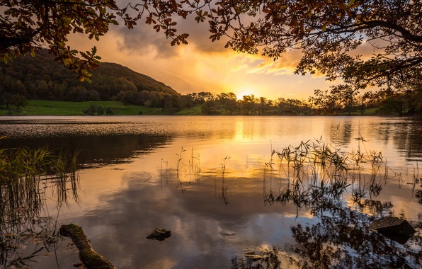 Picture Sunset, Nature, Lake