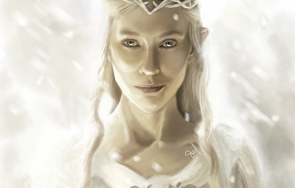 Picture girl, the Lord of the rings, art, elf, Diadema, the lord of the rings, Of …