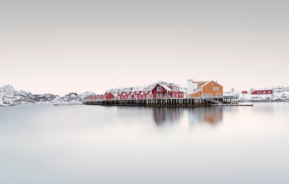 Picture sea, Norway, houses