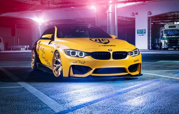 Picture BMW, Light, Black, Yellow, F82, Sight, LED