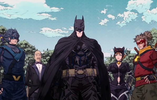 Picture Batman, cartoon, movie, Robin, film, mask, superheroes, Alfred, Red Hood, cape, Red Robin, Nightwing, Batman …