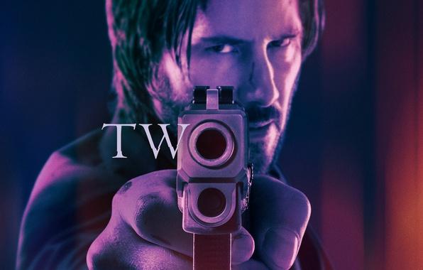 Picture cinema, gun, pistol, hitman, weapon, two, movie, assassin, film, Keanu Reeves, John Wick, John Wick …