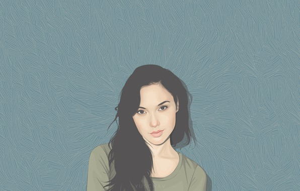 Picture look, girl, face, hair, figure, art, Gal Gadot, Gal Gadot