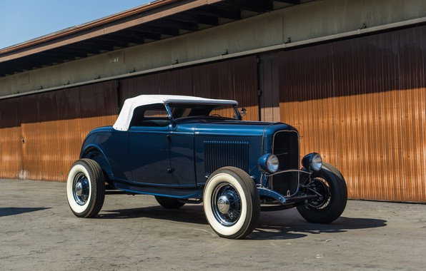 Picture Roadster, Ford, Classic, American, 1932, Hot-Rod