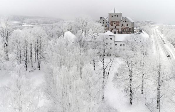 Picture winter, snow, the city, turku