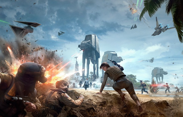 Picture Star wars, Electronic Arts, DLC, DICE, Star Wars: Battlefront, EA DICE, EA, TM, Rogue One: …