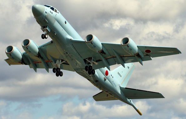 Picture the sky, flight, the plane, Kawasaki, the rise, military, Honda P1