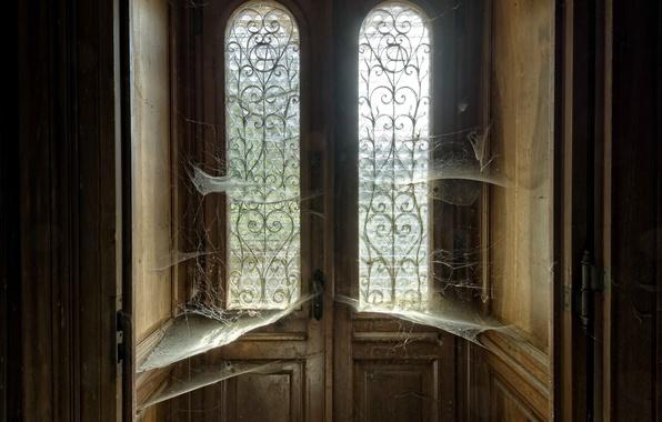 Picture house, web, the door