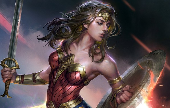 Picture ART, wonder woman, Fan Art, Wonder woman, jeremy chong, superheroine comics