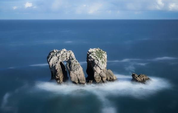Wallpaper Sea Rocks Coast Spain Spain Costa Quebrada