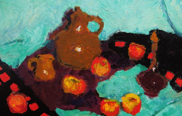 Picture apples, 2006, mug, still life, decanter, The petyaev