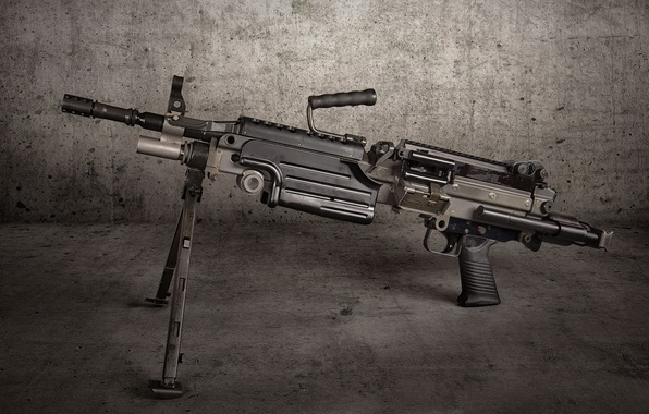 Picture background, Machine gun, M249 SAW