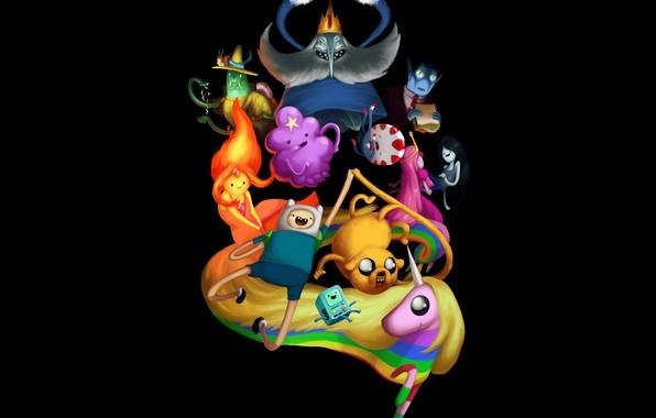 Photo Wallpaper Adventure Time Ice King Cartoon Network Jack Princess Bubblegum