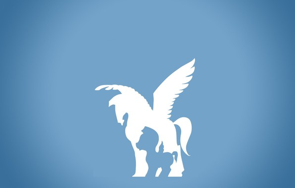 Picture white, horse, cartoon, wings, tail, foal, Pegasus, Hercules