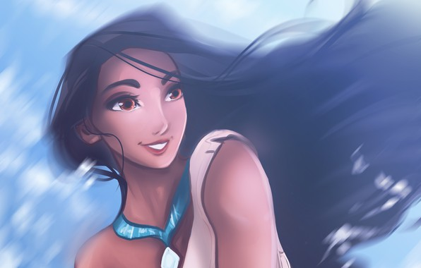 Picture cartoon, Pocahontas, by Kachumi
