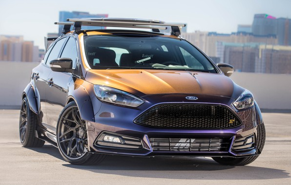 Photo wallpaper Ford, tuning, Blood Type Racing, Focus ST