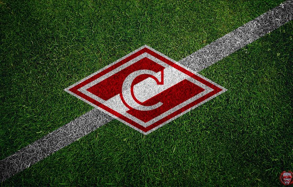 Picture Grass, Sport, Logo, Football, Background, Top, Emblem, Russia, Lawn, Spartacus, Football Club, Rhombus, Meat, 1922, …