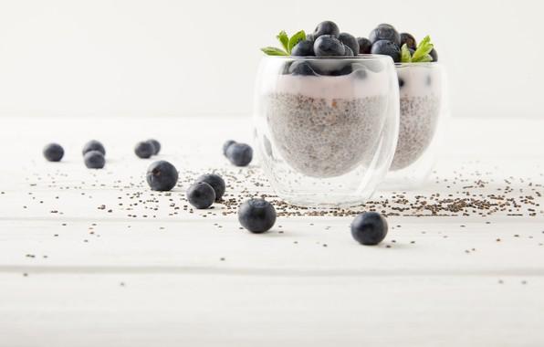 Picture berries, blueberries, Dessert