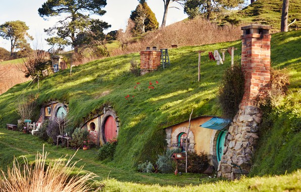 Picture Nature, Hill, Landscape, The Shire, Shir, The hobbit, Nora