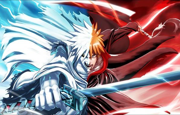 Picture sword, Bleach, anime, man, boy, ken, blade, hero, asian, Kurosaki Ichigo, manga, japanese, oriental, asiatic, …