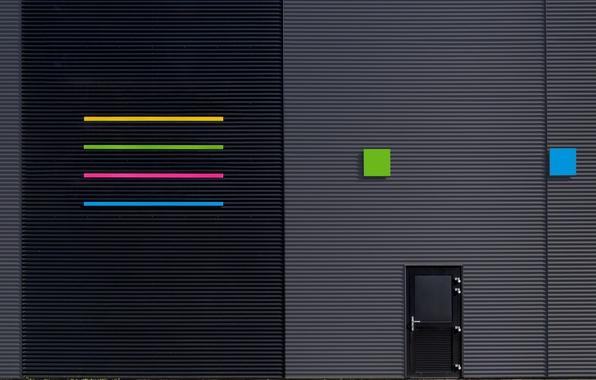 Picture strips, design, the city, the building, texture, door