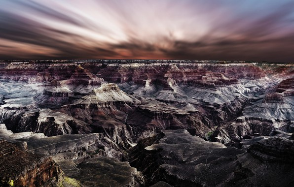 Picture the sky, rocks, Grand Canyon