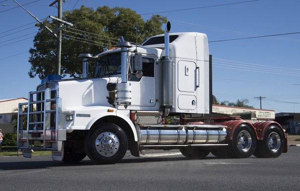 Picture White, Street, Kenworth, trac