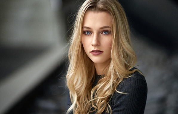 Picture look, model, portrait, makeup, hairstyle, blonde, beauty, bokeh, Mara, Alex Fetter