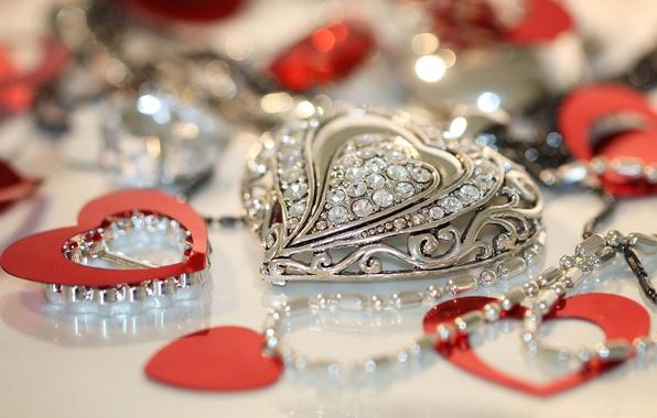 Picture stones, heart, pendant, decoration