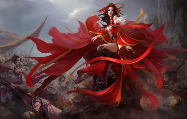 Picture girl, the game, fantasy, art, location, China Fantasy Battle, Great but Cheap Fantasy Battle