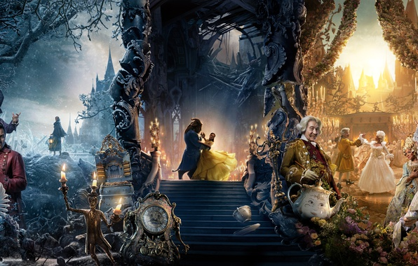 Picture fantasy, Emma Watson, poster, Ian McKellen, Beauty and the Beast, Luke Evans, Beauty and the …