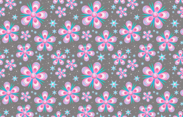 Photo wallpaper flowers, background, pink, texture, floral, pattern, seamless, seamless background